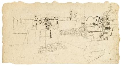 untitled (forio cityscape) by philip guston