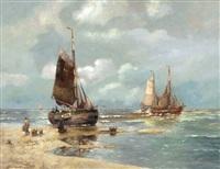 strand von katwijk by hans wacker-elsen
