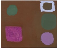 five shapes in brown : 3 march 1962 by patrick heron