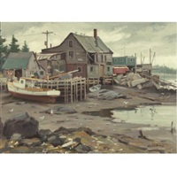 lowtide, port clyde by junius james allen