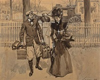 couple returning from a trip by william thomas smedley