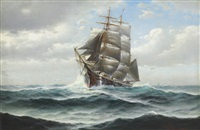 fishing schooner out of gloucester by theodore victor carl valenkamph