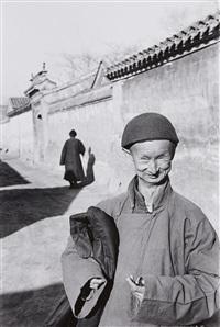 un eunuch de la cour impérial de la dernière dynastie, beijing, chine by henri cartier-bresson