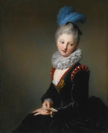 portrait of a young lady with a letter thought to be mademoiselle christine antoinette charlotte desmares by jean baptiste santerre