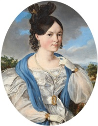 portrait of a lady by joseph kröpsch