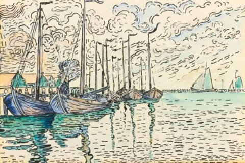 volendam barques de pêche by paul signac