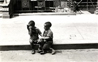 new york (two boys sitting on a curb) by helen levitt