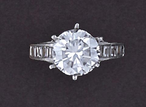a solitaire ring by bailey banks and biddle