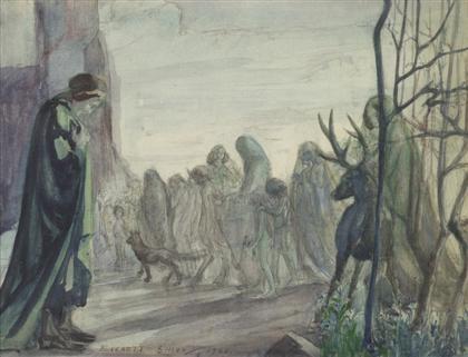 procession before dante by everett shinn
