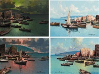 a port on the neopolitan coast by fortunato fontana