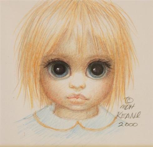 untitled child with big eyes by margaret keane on artnet