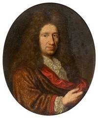 portrait d'homme à la lavallière de dentelle by pierre mignard