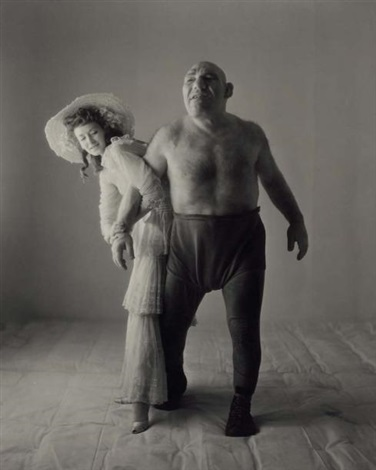 the wrestler the angel with professional model dorian leigh by irving penn