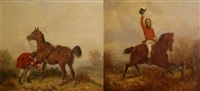 headed for a fall (+ a loose horseshoe; 2 works) by hillyard