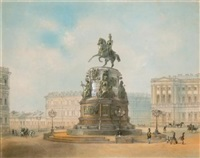 monument to nicholas i, st. isaac's square by josef iosefovich charlemagne