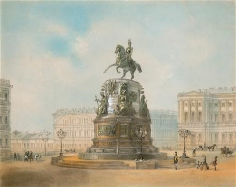 monument to nicholas i st isaacs square by josef iosefovich charlemagne