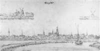 view of gouda by vincent laurensz van der vinne the younger