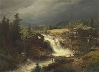 norwegian landscape by hermann herzog