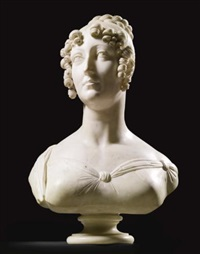 bust of a noblewoman by benedetto pistrucci