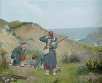le bivouac des soldats by ferdinand bassot