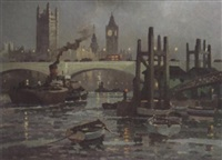 toward waterloo bridge by george ayling