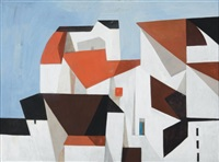 abstract cityscape by bernard langlais