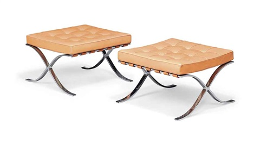 stools pair by ludwig mies van der rohe