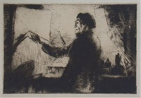 james mcbey at his easel by arthur baylis allen
