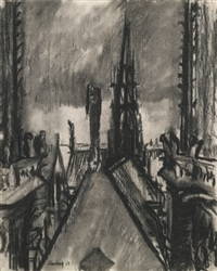 spires and towers. notre dame de paris by david bomberg