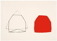 untitled (double red) by joel shapiro