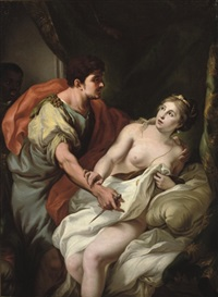 tarquin and lucretia by johann heinrich tischbein the younger