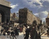 les grands boulevards, la porte st. martin, paris by emil lindemann