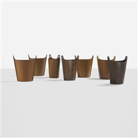 wastepaper baskets (set of 7) by p.s. heggen