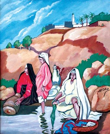 femmes à la rivière by abdeuchafi ahriz