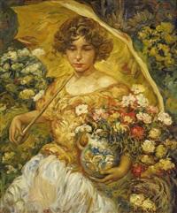 jeune femme à l'ombrelle by paul smolders