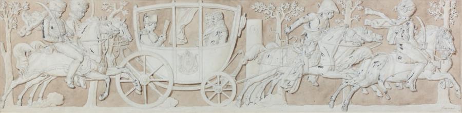napoléon dans son carrosse by alexandre évariste fragonard