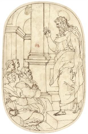 saint paul preaching at athens by perino del vaga