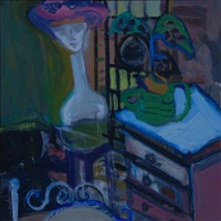 blue shelf by arlene amaler-raviv