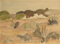 paysage africain by maurice le scouézec