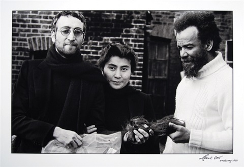 Johns Hair Gift John Lennon Yoko Ono And Michael X 2 Works By Horace Ove On Artnet