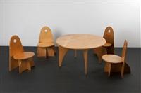 tisch und vier stühle apollo (set of 5) by ado