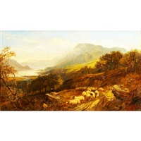 highland landscape with sheep by joseph denovan adam and joseph adam