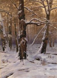winter morning by georgiy zakharovich bashinzhagyan