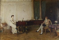 falling on deaf ears by sir william quiller orchardson
