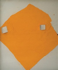 composition abstraite au losange orange by alonso alonso