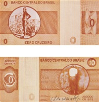 zero cruzeiro (2 works) by cildo meireles