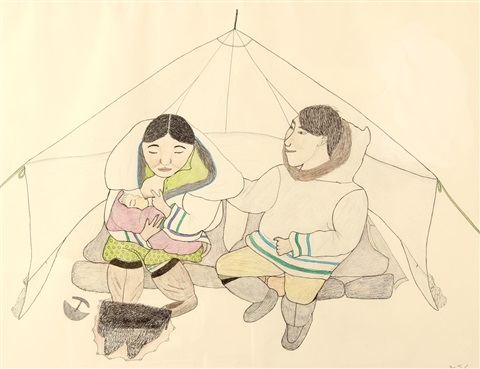 untitled feeding time by napatchie pootoogook