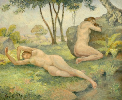 nudes in landscape by paul emile colin