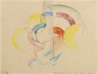abstraktes aquarell i (abstract watercolour i) by franz marc