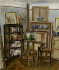 artist's studio by isaac antcher